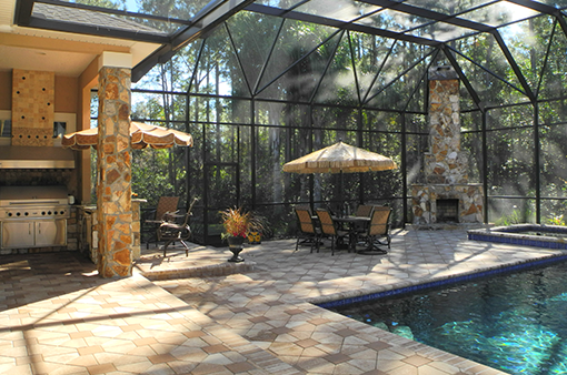 Creative Design Space Outdoor Fireplaces Firepits Jacksonville Custom Outdoor Kitchens